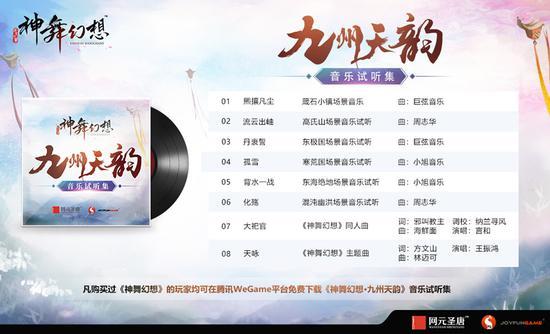 8首甄选游戏音乐,尽在《神舞幻想•九州天韵》