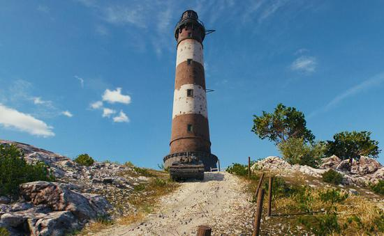 标志性的灯塔依然得到保留