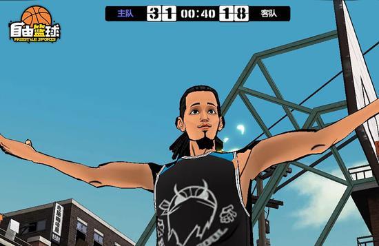 《自由篮球》韩潮角色进球后欢呼