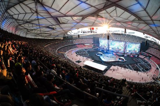 2017全球总决赛鸟巢比赛现场