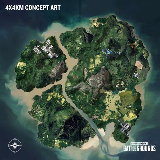 4x4km新小岛地图