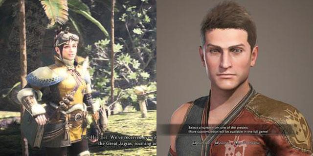 怪物猎人三种画质模式截图对比