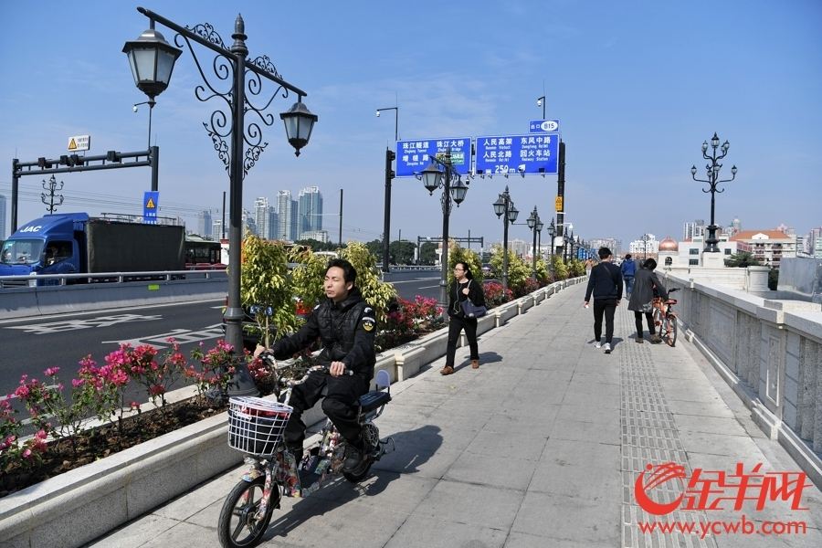 形象提升后的人民桥.金羊网记者 汤铭明 摄-广州马拉松明日开跑 沿图片