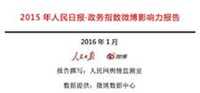2015年人民日报政务指数微博影响力报告