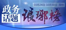 10月24日-10月30日#政务话题琅琊榜#发布