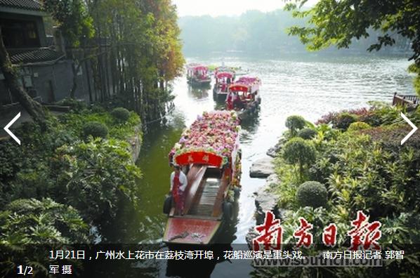 买花登山看灯光秀,广州过年花样多
