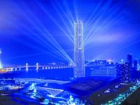 珠海330米高第一高楼亮灯首秀