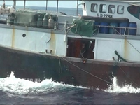 台湾扣押一艘越界捕捞香港渔船 船上20名广东船员