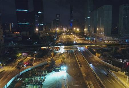 深圳地铁实施国内首例先进架桥技术