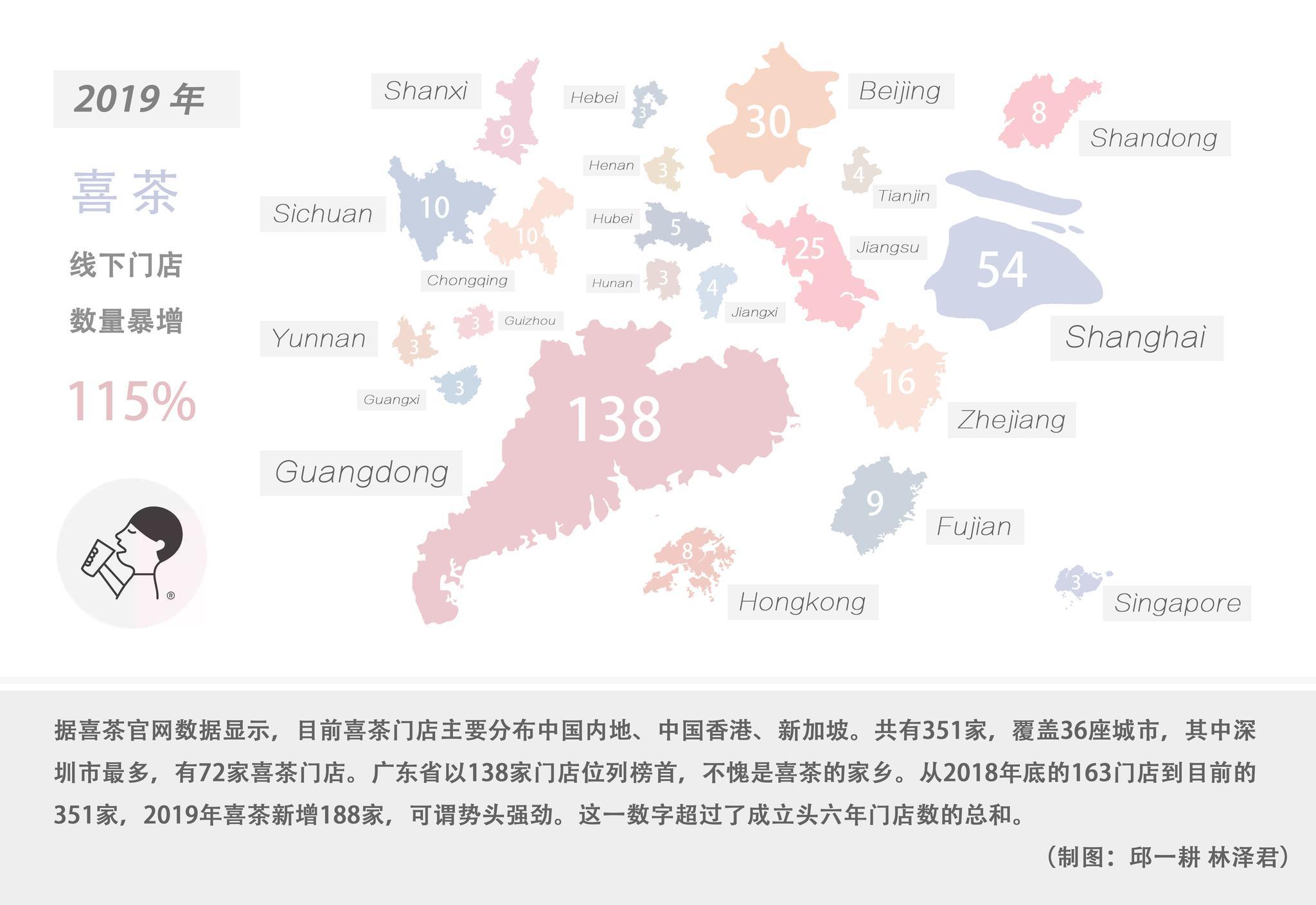 △喜茶门店分布地图