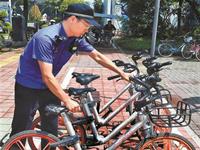 深圳清理共享单车 近16万辆