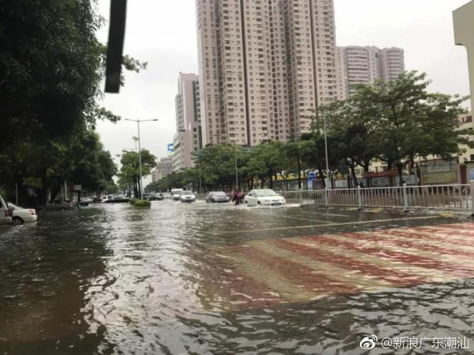 潮汕多地出现严重积水