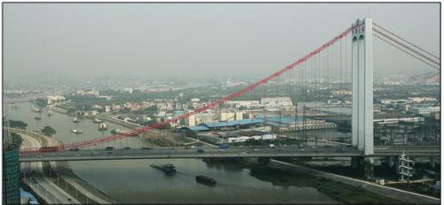 佛山一环平胜大桥去年升级改造施工