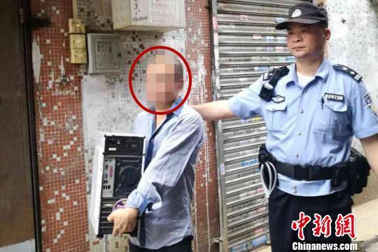 警方抓获嫌疑人。广州警方 供图 程景伟 摄