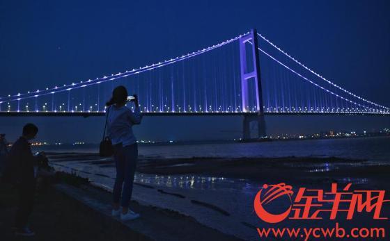珠江新明珠 虎门二桥全线亮灯璀璨夺目太迷人