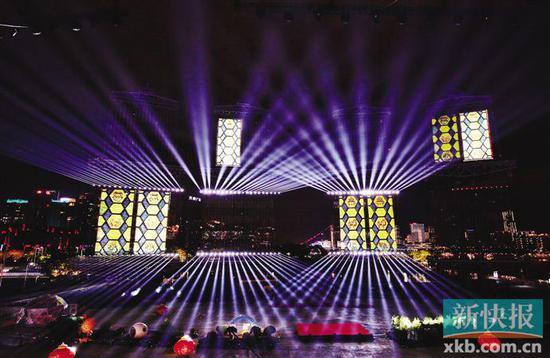 广州海心沙灯光音乐节启幕 1日 19日可预约免费看
