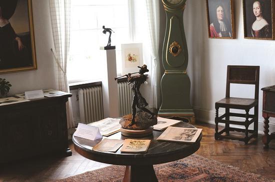 布什克劳斯特城堡内的房间一隅