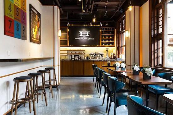 堀口咖啡店堂,可以看到9种咖啡豆的介绍