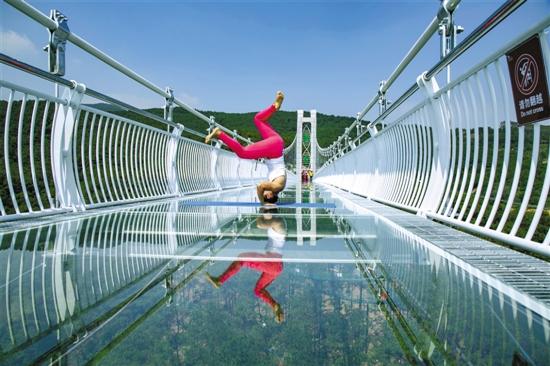 盈香生态园玻璃桥