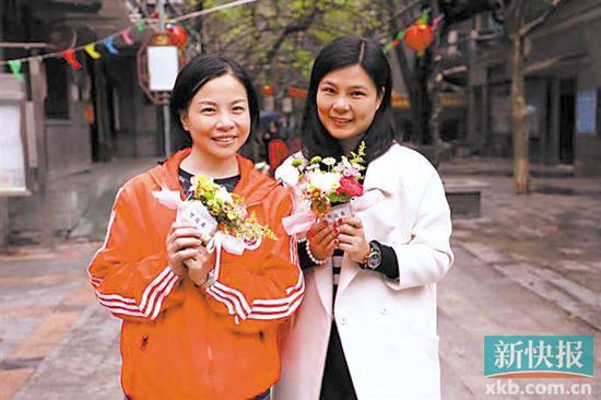 荔湾老街插花展示花样人生 西关小姐衬托街景美如花
