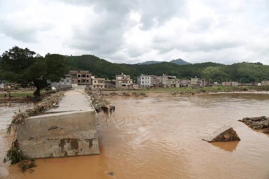 受灾地区。来源:连平县委宣传部官方微信