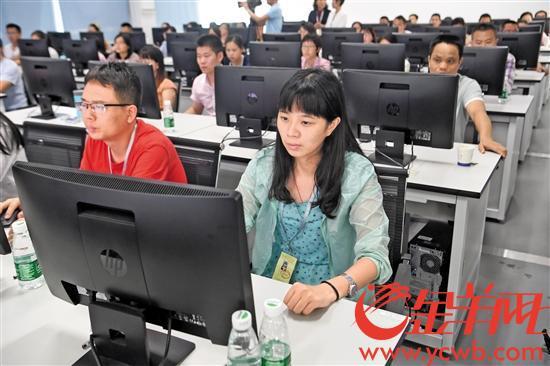 华南理工大学五山校区理综评卷工作正在进行