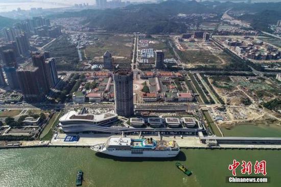 资料图:广州南沙国际邮轮母港。中新社记者 陈骥旻 摄