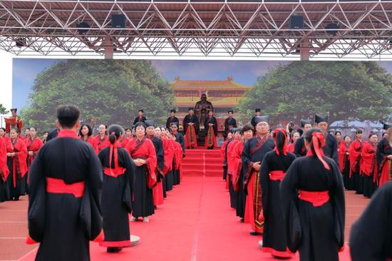 弘扬中华传统文化 华师初中举办首届尊师拜孔大典