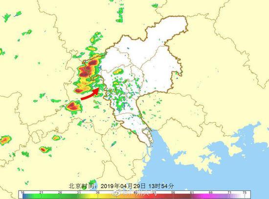 狂风暴雨马上到!预计15时前后广州市区将转雷雨