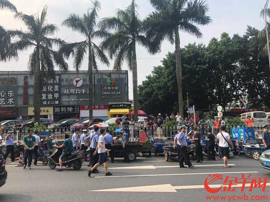 广州查扣违法摩托车、电动自行车等近2700辆