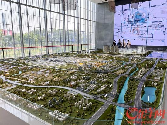 广州空港经济区规划展示中心大型沙盘展示前景