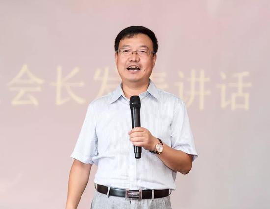 东莞市山西商会会长王瑞宏先生发表讲话