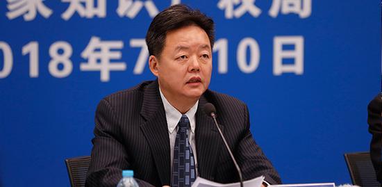 国家知识产权局新闻发言人、办公室主任胡文辉(来源:国家知识产权局网站)