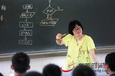 东莞一中女老师戴王尼玛头套上课防止学生打瞌睡图片