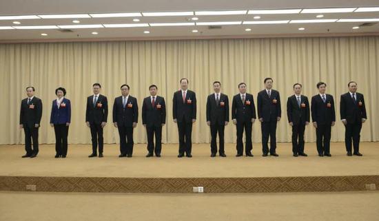 新一届广州市委领导班子。南方日报记者 肖雄 摄