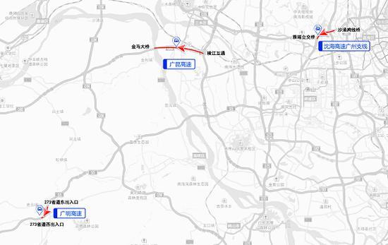 广昆高速(横江互通-金马大桥)