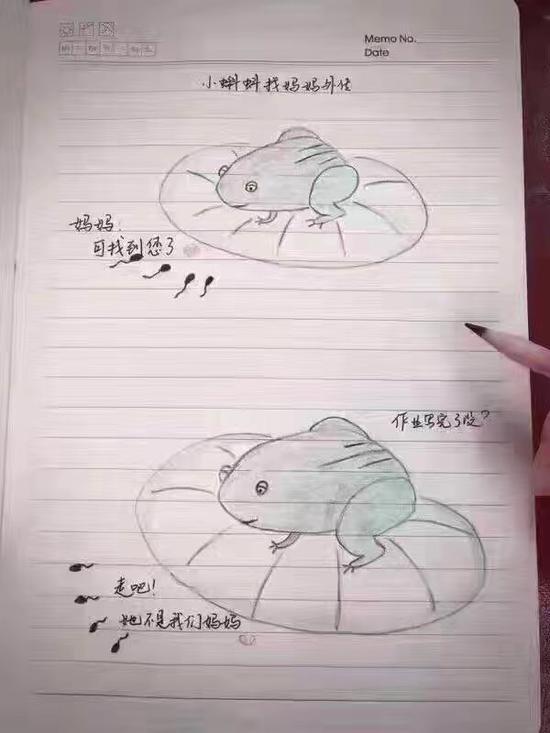 母亲的素描画-铅笔画小蝌蚪找妈妈外传刷爆朋友圈图片
