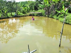 陈秀英再度还原黄石增当时救人溺水的情景。