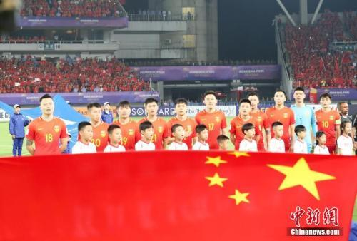 资料图:中国男足。中新社记者 张畅 摄