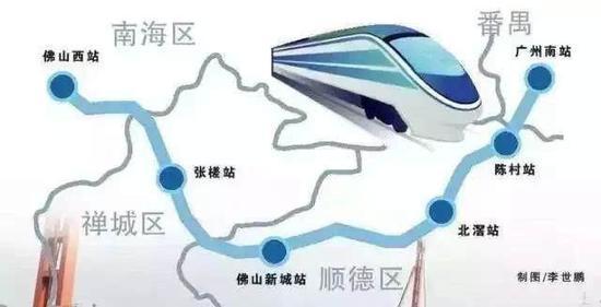 广佛环线预计10月开通 广州南站直达佛山城区很方便