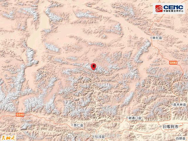 本次地震周边20公里内的乡镇有美巴切勤乡。