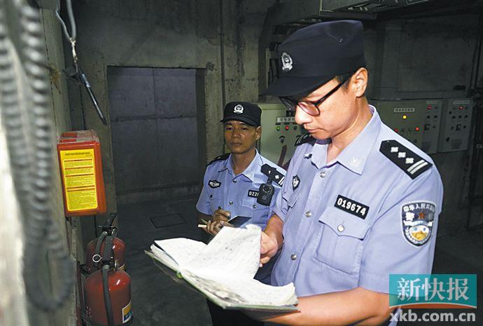 ■民警开展安全风险隐患排查。