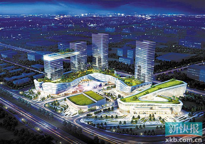 ■广州市白云区永平汽车小镇项目规划设计图。 通讯员供图