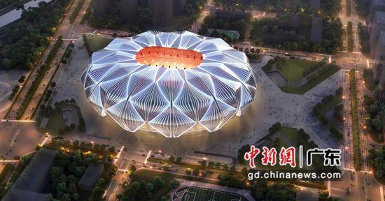 世界最大规模足球场广州恒大足球场正开建 已完