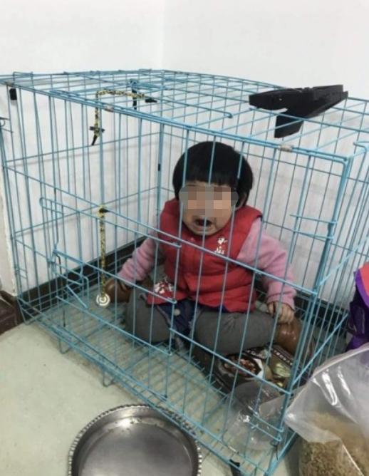 """广东潮州警方回应""""女童被关笼中疑遭虐待""""情况"""