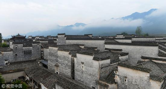 南屏村徽式建筑。图片来源/视觉中国