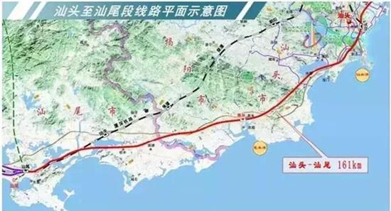 汕头-汕尾铁路规划图