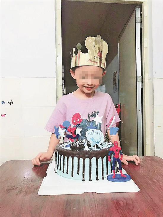 ▲小航5岁生日照片。 家属供图
