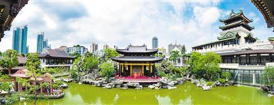 琼楼玉宇似真似幻,粤剧博物馆仿佛重现了当年粤剧的盛况。