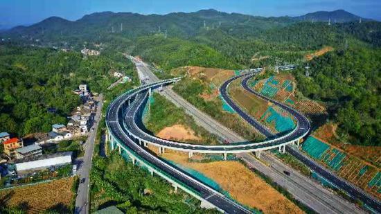 梅州东线竹洋互通。图片由通讯员提供